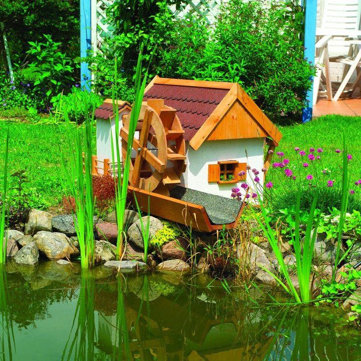 Water Mill - Garden Water Feature - Working Watermill for your Pond: Amazon.co.uk: Garden & Outdoors