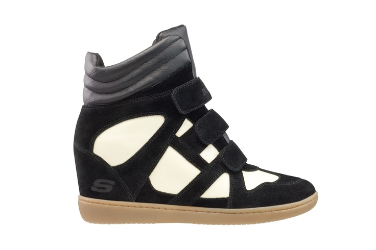 """SKCH+3 by SKECHERS wedge sneakers are featured in OK! Magazine's Sept. 17 issue as a """"Fall Must-Have!"""""""