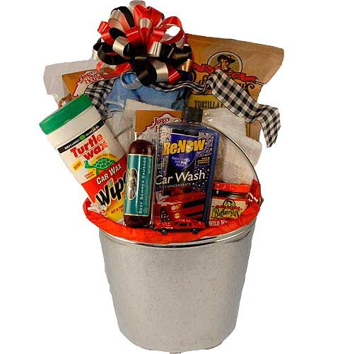 35 best gift basket ideas images on pinterest gift basket ideas car care gift basket scrub brush a wash mitt a towel car wash soap chips and salsa snack mix pretzels beef jerky negle Images