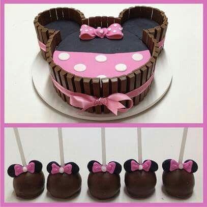 Kit kat cake minnie id es anniversaire minimoi pinterest g teaux et g teaux kit kat - Kit anniversaire minnie ...