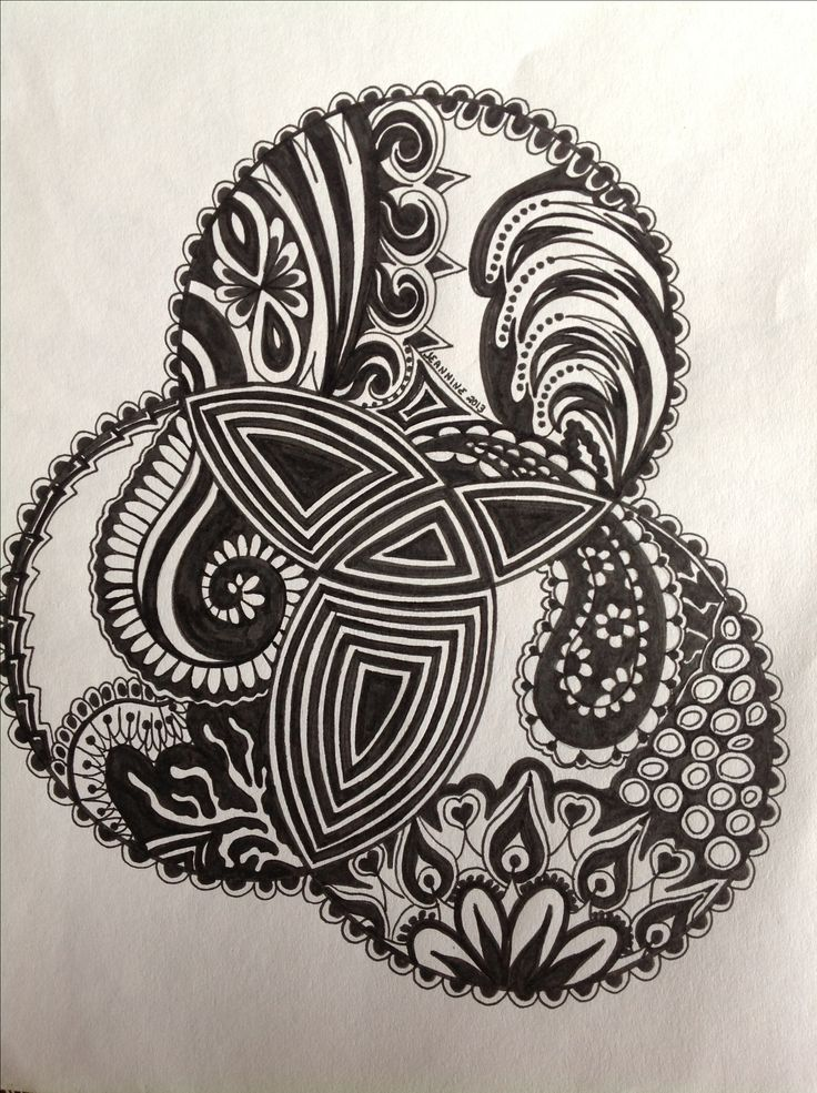 My Zentangle Doodle (comment from previous pinner & a beautiful doodle!)