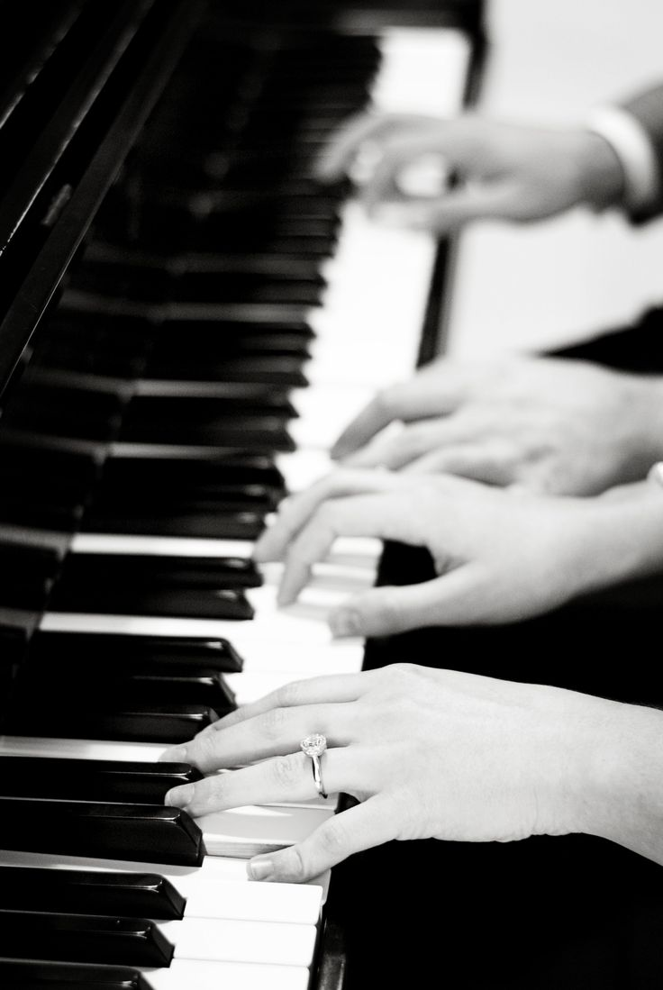 Piano engagement shot