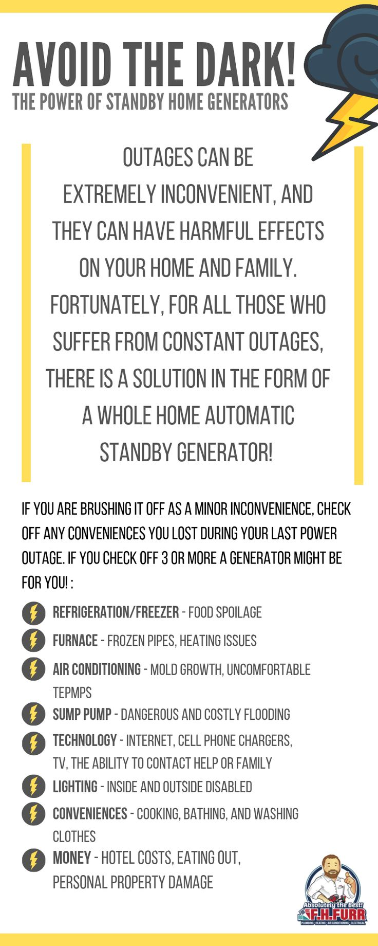 Will A Standby Generator Benefit You Plumbing Infographic