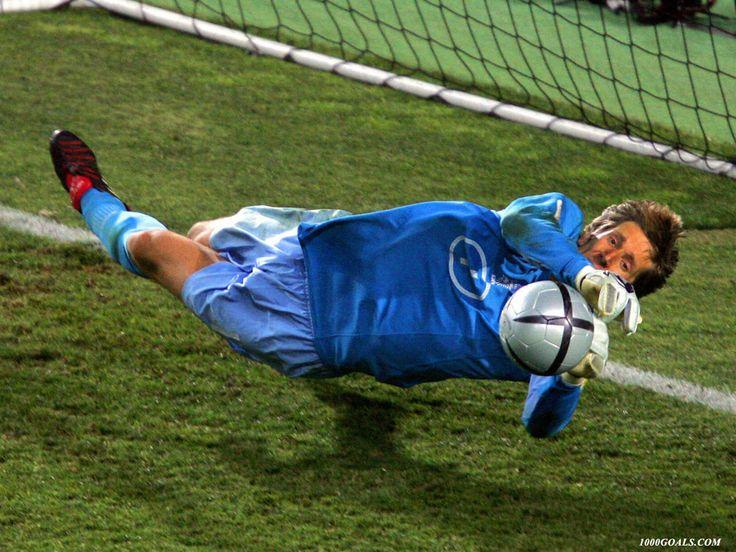 Edwin Van Der Sar...what a save