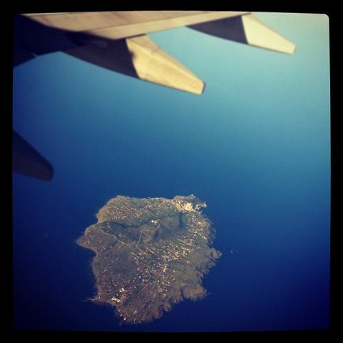 Flying over Ustica