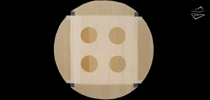 6x 6 Nicholls Design Round Rug