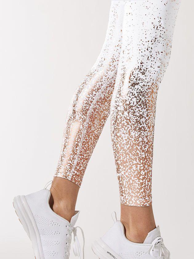 c0c8e97d96 BEYOND YOGA Alloy Ombre High Waisted Midi Legging White/Rose Gold LEGGINGS