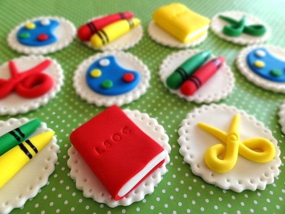 Fondant Bookworm Party, Edible Book, 3D Books, Fondant