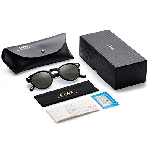 0ee3b5f1cbb Vintage Round Sunglasses - Carfia Retro Polarized Sunglasses for Women Men