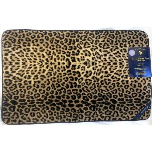 leopard print bathroom rug