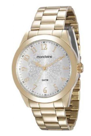 78702LPMVDA1 Relógio Feminino Mondaine Analógico Dourado | Guest Club