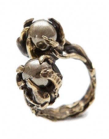 ToniMay Pyrite Petrichor brass ring