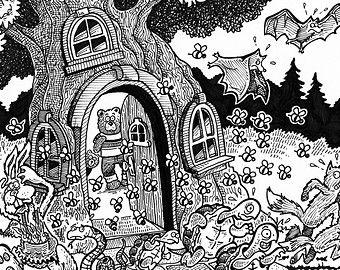 Custom Black & White Illustrations