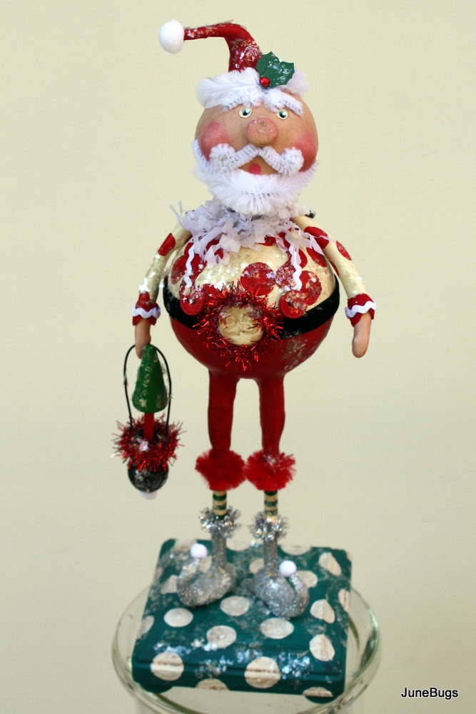 santa claus folk art christmas collectible art doll