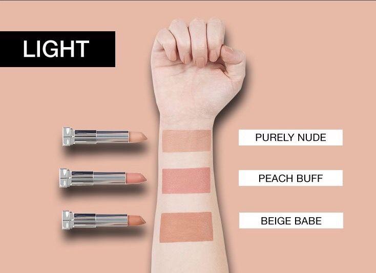 Maybelline nude lipsticks for fair skin