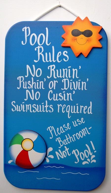 Pool Rule signs - Google Search