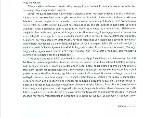 Alföldi László András: A Kortárs 2015. 07-08. dupla számban megjelent írásom a Budaörsi Műhely múltjáról és jelenéről.
