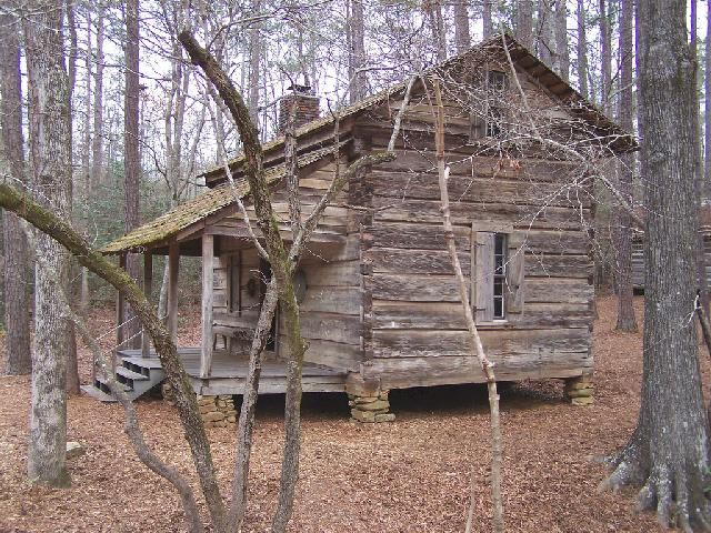 pioneer log home occupied until 1930s a family of 15 lived here cabin was relocated in 1960. Black Bedroom Furniture Sets. Home Design Ideas