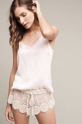 Sometimes PJ's (like this set from Anthropologie) make some of the best boudoir outfits!