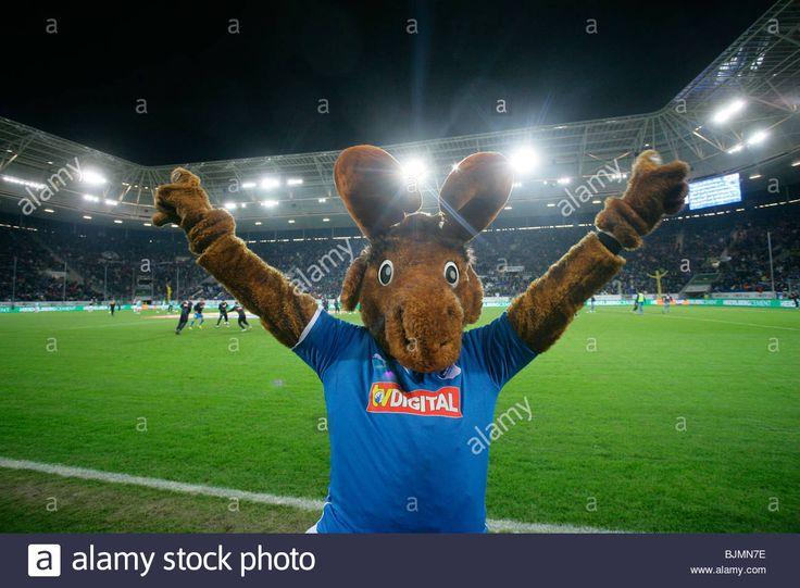 Hoffi, mascot of the Bundesliga soccer team TSG 1899 Hoffenheim in ...