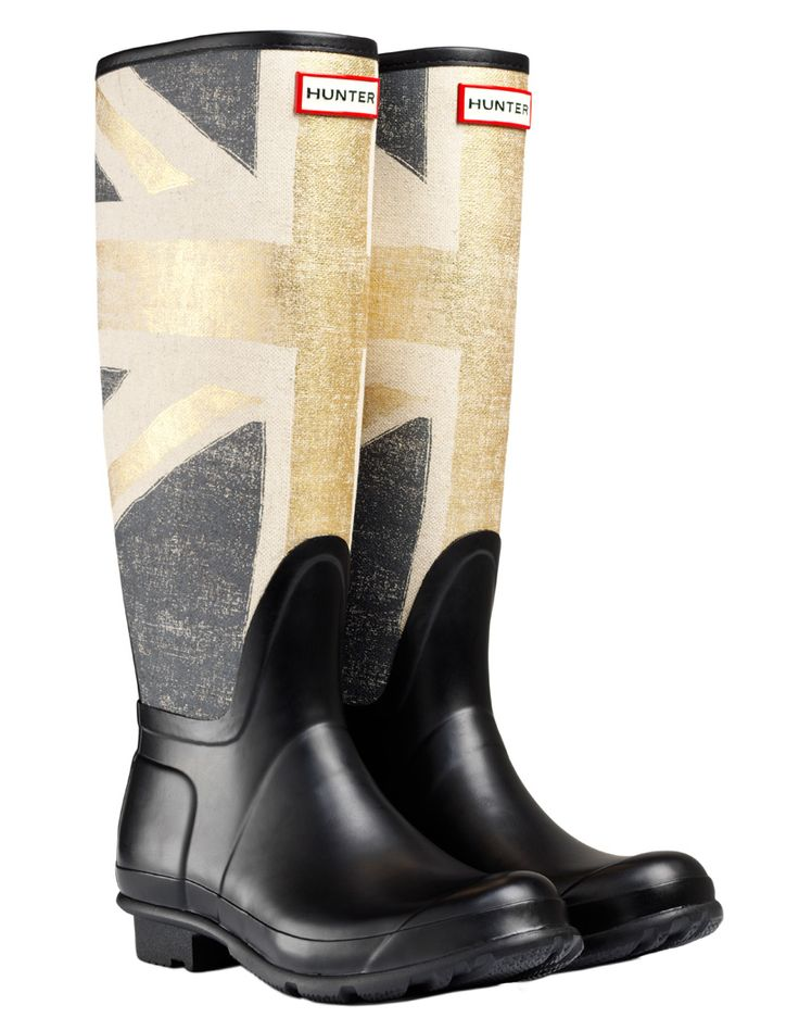Hunter Original Brit Wellington Boots - Gold