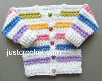 Free baby crochet pattern rainbow cardigan usa, #haken, gratis patroon (Engels), vestje, jasje, baby, kraamcadeau, #haakpatroon