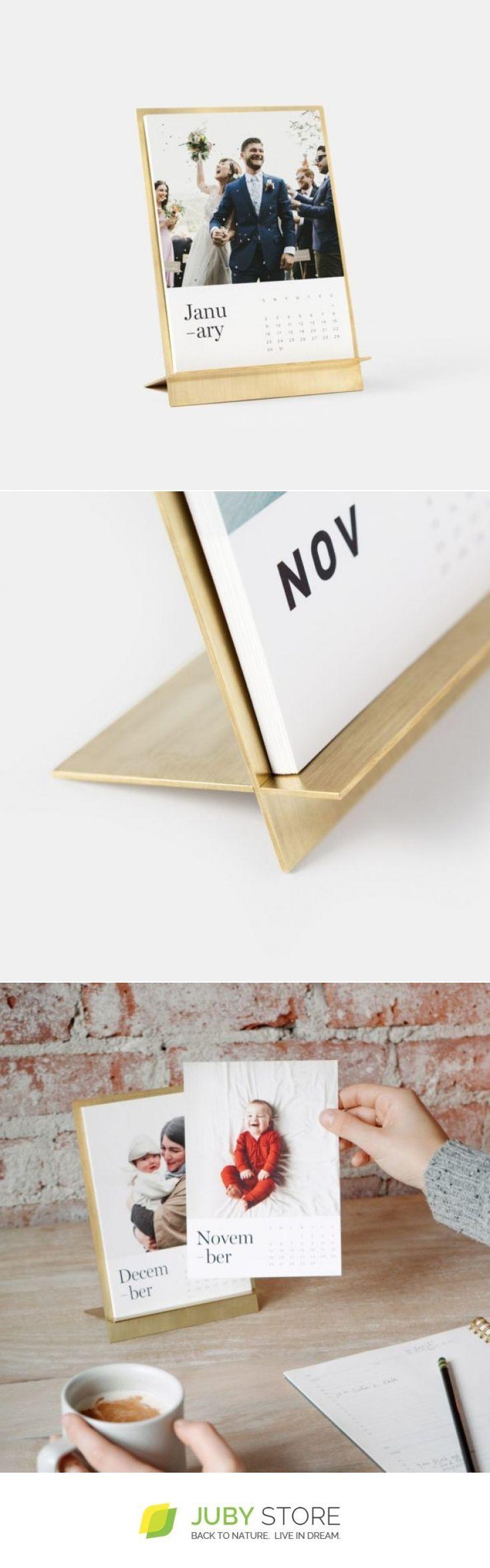 Artifact Uprising Brass Easel + Calendar - Juby Store