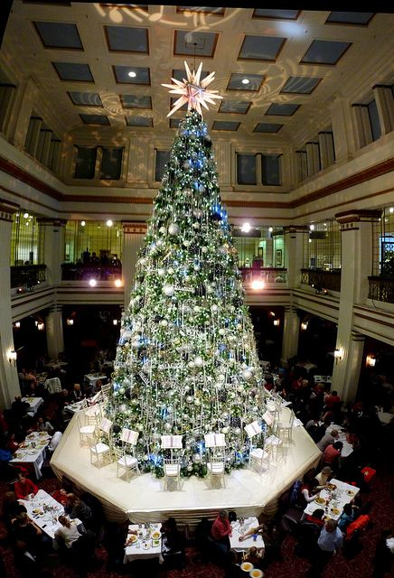 Marshall Field's, Downtown Chicago.  Day after Thanksgiving tradition, eating breakfast in the Walnut Room.