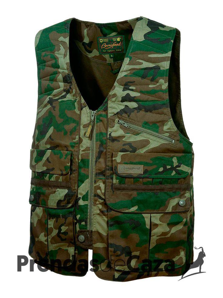 Chaleco Zipper 46'98€  #prendasdecaza #caza #ropa #chaleco #camuflaje #deporte