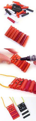 Macaroni cat necklacde #kidscraft