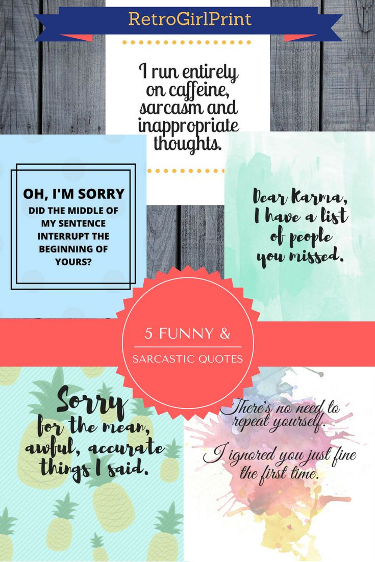 Funny & Sarcastic quotes! Well designed for your planner or to simply decorate your room!