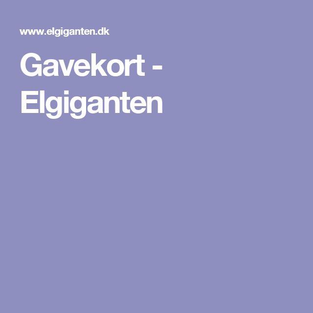 Gavekort - Elgiganten