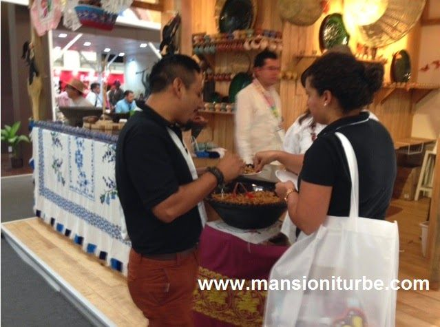 La Cocina Michoacana pudo ser degustada durante el Tianguis Turístico de México 2014 en Cancún.