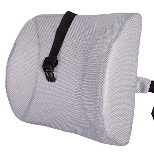 Fashion Grey High Resilient Memory Foam Seat Back Lumbar Cushion Support Pillow Car Office Chair Back Support