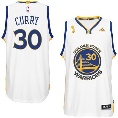 adidas Stephen Curry Golden State Warriors White Trophy Banner Swingman Jersey