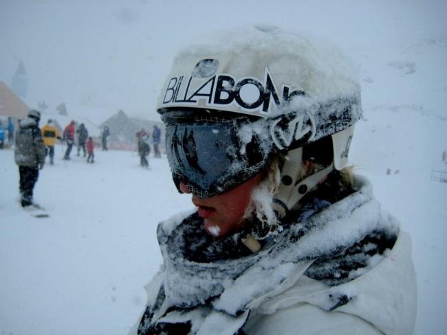 Bex Sinclair loves a snowy Cardrona