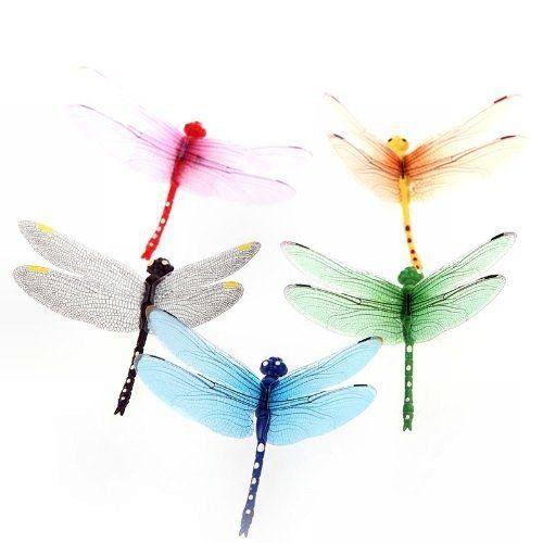 Уникальные разноцветные стрекозы с магнитами для украшения и декора стен в вашем офисе или квартире.