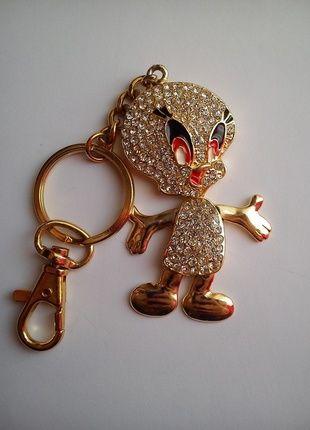 Kup mój przedmiot na #vintedpl http://www.vinted.pl/akcesoria/bizuteria/10634753-breloczek-kaczka-wysadzana-cyrkoniami-zlota