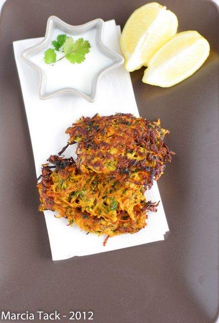 Paillasses de carottes à la coriandre - Recette - Marcia Tack