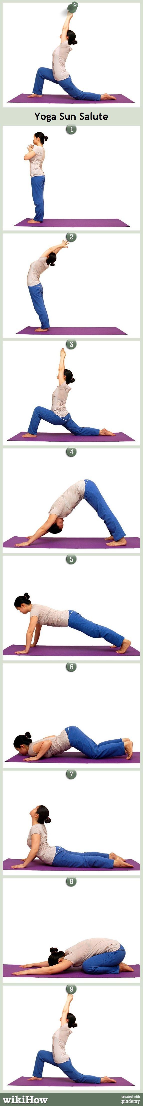 Yoga Lesson! How to do the Sun Salute...
