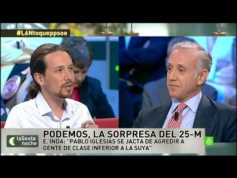 """laSexta Noche - Inda: """"Respeto a la gente que votó a Podemos, es gente d..."""