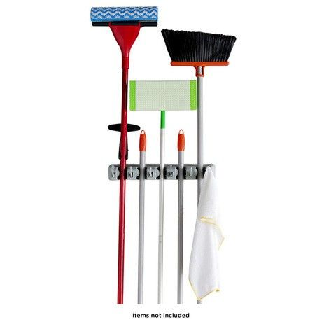 evelots mop and broom holder wall mounted garden rack storage tool - Broom Holder
