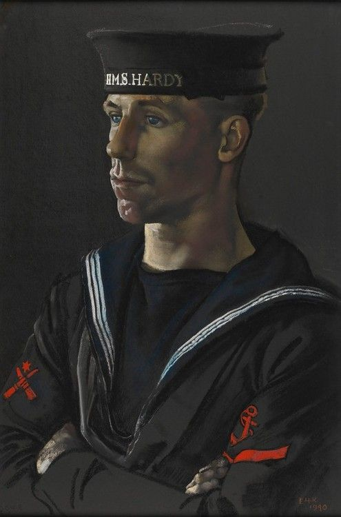 art-and-things-of-beauty: Eric Kennington (1888-1960), Portrait of Leading Seaman Dove of HMS Hardy, 1940.