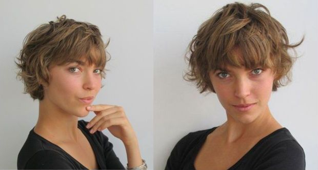 Cute messy layered short bob