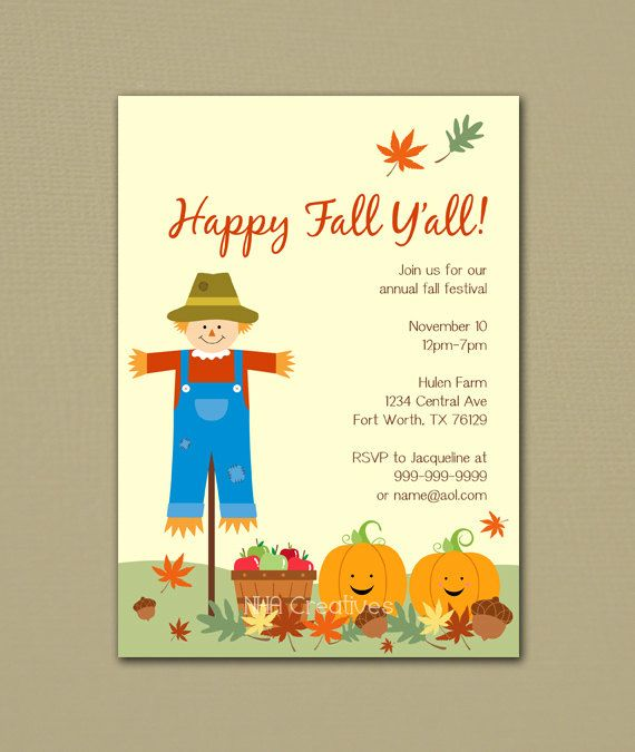 Happy Fall Yall Festival Party Invitation
