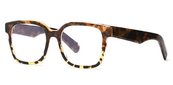 V2-S - Shiny Yellow Marble - Optical Frame