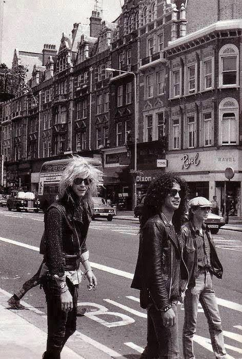 Guns N' FN Roses, first tour to London, England.