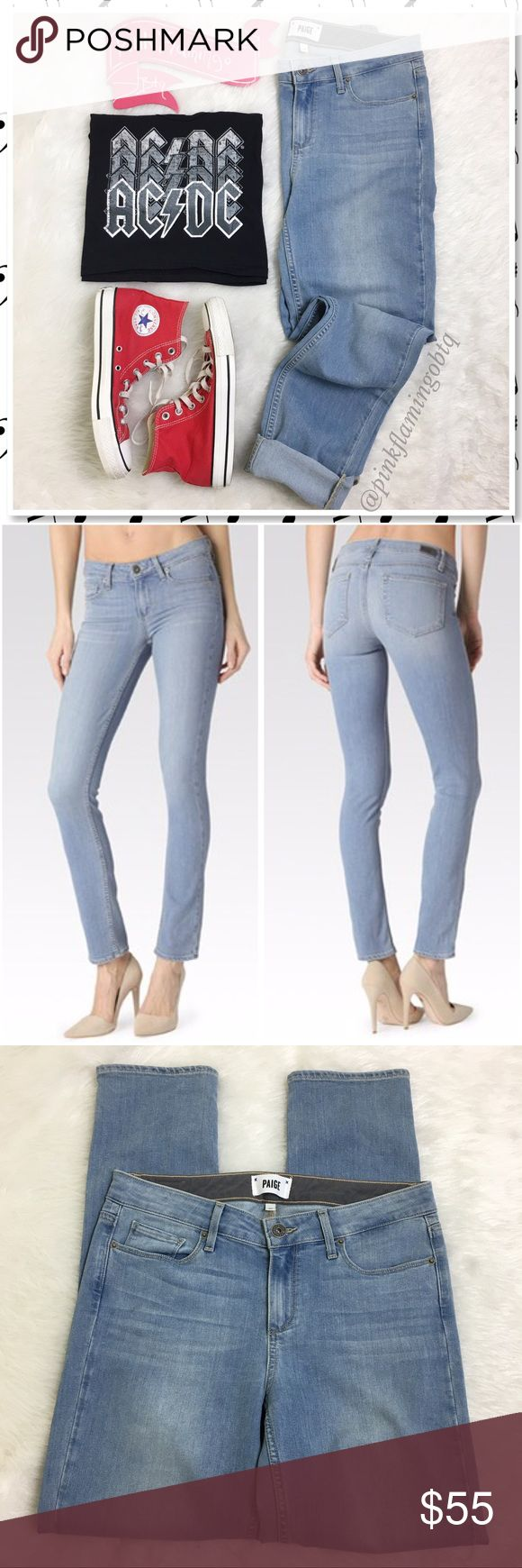 Paige Skyline Ankle Peg Skinny in Addy Wash EUC Paige Jeans. The Skyline Ankle Peg is designed with Pages classic, skyline Skinny Fit throughout the leg and a slightly shorter inseam that grazes the Ankle bone. Super soft fabric holds you in and doesn't bag out during the day, taking you from office hours to after hours in a seamless transition. Only worn once for a few hours, sadly I ordered the wrong size. Paige Jeans Jeans Ankle & Cropped