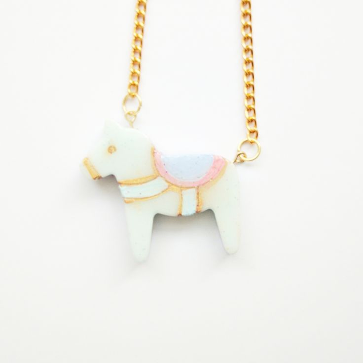 Pony+Necklace!+  *hand+painted+resin+pony *triple+coated+in+resin+and+fully+domed+resin+piece *3cm+x+4cm+charm *18+Inches
