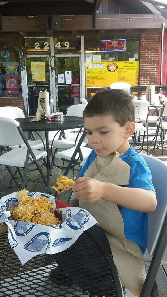 My middle baby.....kristopher 5 years old....@ central bbq